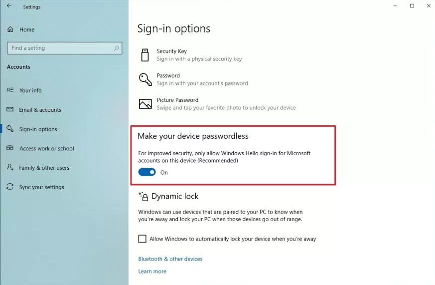 How to secur use PC with password on Windows 10