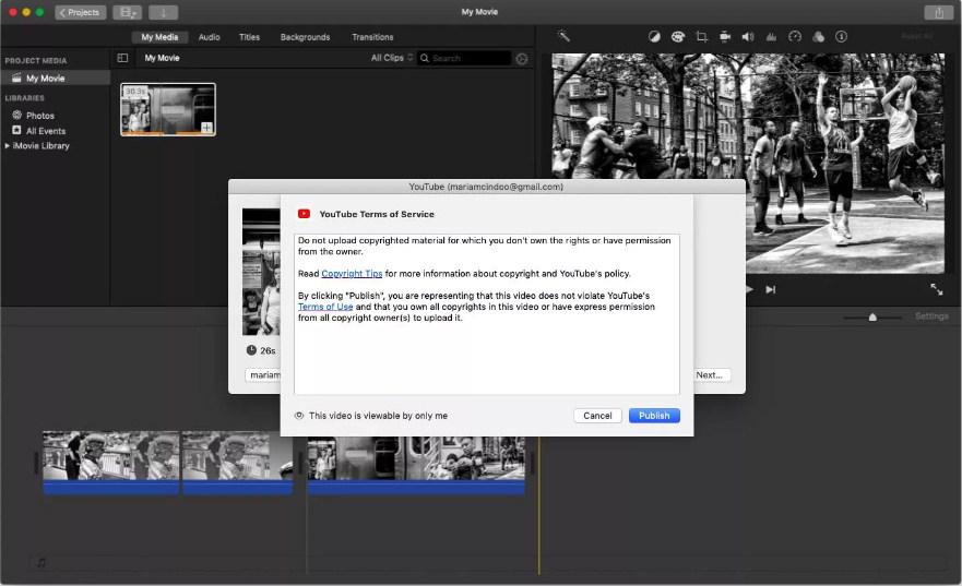 How to Upload Video iMovie